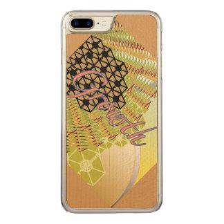 Capa iPhone 8 Plus/ 7 Plus Carved iPhone 6/6s do crescimento mais a madeira magro do
