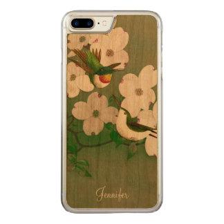 Capa iPhone 8 Plus/ 7 Plus Carved iPhone de madeira 6 da arte do vintage dos