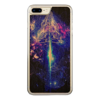 Capa iPhone 8 Plus/ 7 Plus Carved Koi iridescente cósmico