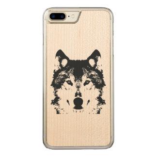 Capa iPhone 8 Plus/ 7 Plus Carved Lobo preto da ilustração