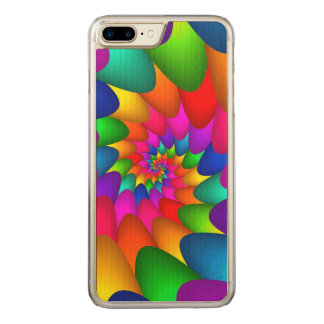 Capa iPhone 8 Plus/ 7 Plus Carved Madeira magro positiva do iPhone 6 psicadélicos do