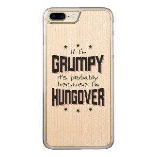 Capa iPhone 8 Plus/ 7 Plus Carved MAL-HUMORADO porque HUNGOVER (preto)