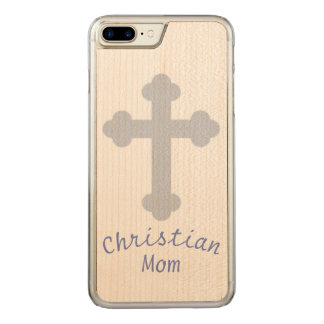 Capa iPhone 8 Plus/ 7 Plus Carved Mamã cristã