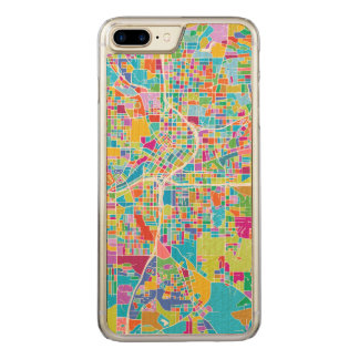 Capa iPhone 8 Plus/ 7 Plus Carved Mapa colorido de Atlanta