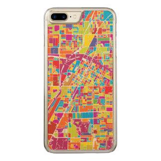 Capa iPhone 8 Plus/ 7 Plus Carved Mapa de Las Vegas colorido, Nevada