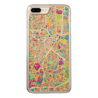 Capa iPhone 8 Plus/ 7 Plus Carved Mapa de néon de Houston, Texas |