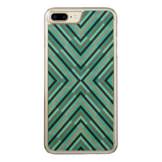 Capa iPhone 8 Plus/ 7 Plus Carved Máscaras Checkered diagonais modernas do teste