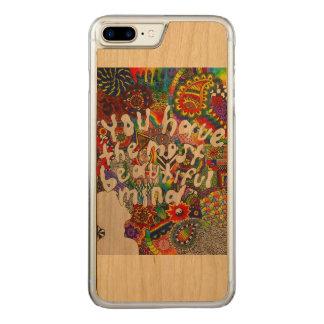 Capa iPhone 8 Plus/ 7 Plus Carved Mente bonita