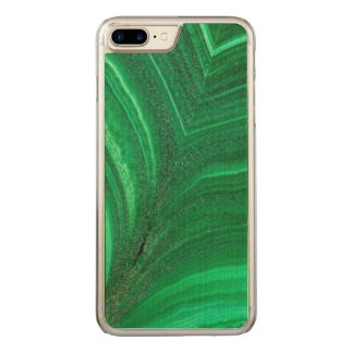Capa iPhone 8 Plus/ 7 Plus Carved Mineral verde-claro da malaquite