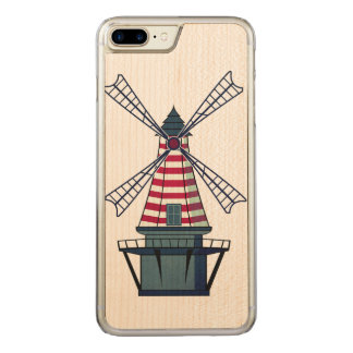 Capa iPhone 8 Plus/ 7 Plus Carved Moinho de vento de Holland