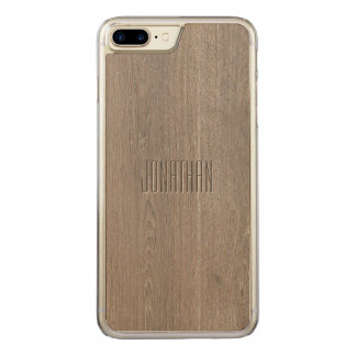 Capa iPhone 8 Plus/ 7 Plus Carved Monograma bonito do teste padrão da madeira de