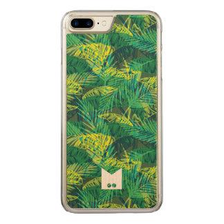 Capa iPhone 8 Plus/ 7 Plus Carved Monograma. Teste padrão tropical da palma do