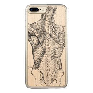 Capa iPhone 8 Plus/ 7 Plus Carved Músculos traseiros da arte preto e branco da