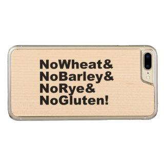 Capa iPhone 8 Plus/ 7 Plus Carved NoWheat&NoBarley&NoRye&NoGluten! (preto)