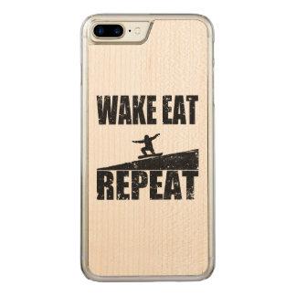 Capa iPhone 8 Plus/ 7 Plus Carved O acordar come a repetição #2 do Snowboard (o