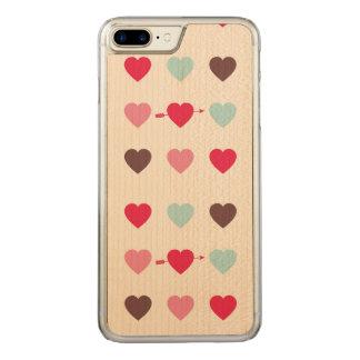 Capa iPhone 8 Plus/ 7 Plus Carved o amor está no ar