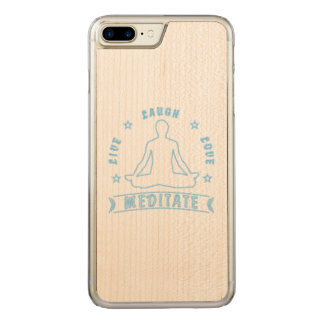 Capa iPhone 8 Plus/ 7 Plus Carved O amor vivo do riso Meditate o texto masculino (o