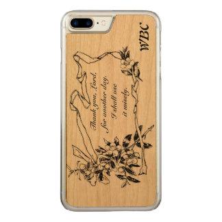 """Capa iPhone 8 Plus/ 7 Plus Carved """"Obrigado, senhor, para design do lembrete de um"""