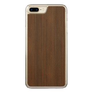 Capa iPhone 8 Plus/ 7 Plus Carved Olhar de madeira de bambu da grão de Brown da noz