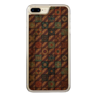 Capa iPhone 8 Plus/ 7 Plus Carved Ornamento de talavera do mosaico do vintage