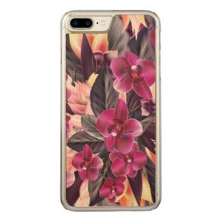 Capa iPhone 8 Plus/ 7 Plus Carved Orquídeas. Design tropical com as flores bonitas