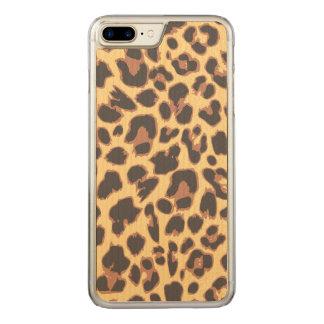 Capa iPhone 8 Plus/ 7 Plus Carved Padrões da pele animal do impressão do leopardo