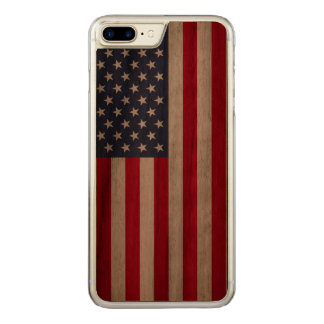 Capa iPhone 8 Plus/ 7 Plus Carved Pára-choque positivo do iPhone 7 da noz do carved®