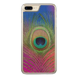 Capa iPhone 8 Plus/ 7 Plus Carved Pena de cauda de um pavão