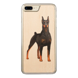 Capa iPhone 8 Plus/ 7 Plus Carved Pinscher do Doberman