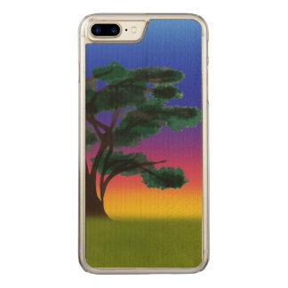 Capa iPhone 8 Plus/ 7 Plus Carved Por do sol do savana pelos Feliz Juul Empresa
