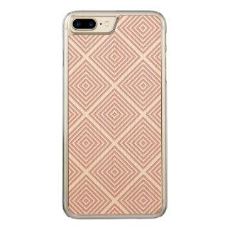 Capa iPhone 8 Plus/ 7 Plus Carved Quadrados geométricos cor-de-rosa