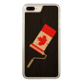 Capa iPhone 8 Plus/ 7 Plus Carved Rolo de pintura canadense da bandeira da folha de