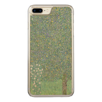 Capa iPhone 8 Plus/ 7 Plus Carved Rosebushes sob as árvores Gustavo Klimt GalleryHD