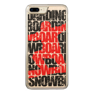 Capa iPhone 8 Plus/ 7 Plus Carved Snowboarding #1 (preto)