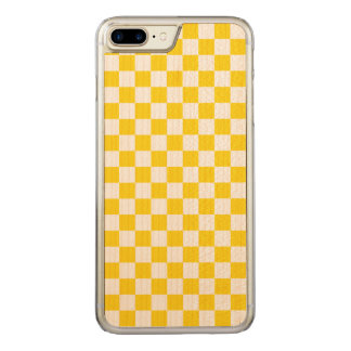 Capa iPhone 8 Plus/ 7 Plus Carved Tabuleiro de damas amarelo