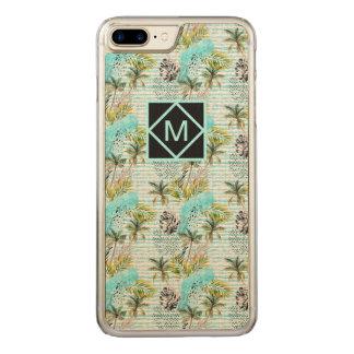 Capa iPhone 8 Plus/ 7 Plus Carved Teste padrão abstrato da palmeira da aguarela
