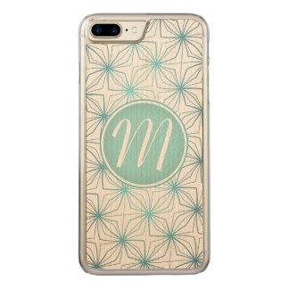 Capa iPhone 8 Plus/ 7 Plus Carved Teste padrão artística do vintage do monograma da
