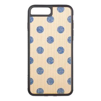 Capa iPhone 8 Plus/ 7 Plus Carved Teste padrão de bolinhas azul elegante do brilho