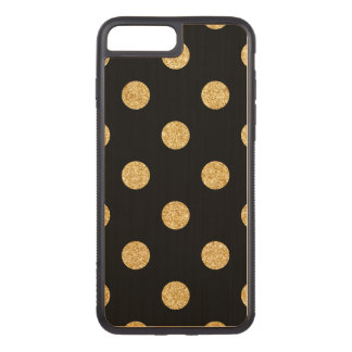 Capa iPhone 8 Plus/ 7 Plus Carved Teste padrão de bolinhas elegante do brilho do