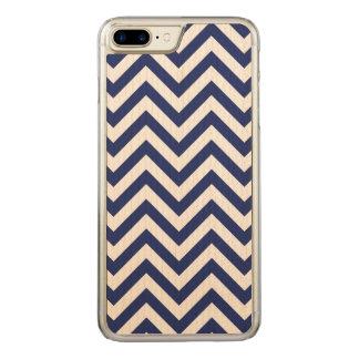 Capa iPhone 8 Plus/ 7 Plus Carved Teste padrão de Chevron das listras do ziguezague