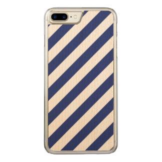 Capa iPhone 8 Plus/ 7 Plus Carved Teste padrão diagonal do azul marinho e o branco