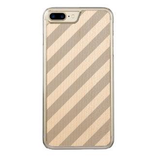 Capa iPhone 8 Plus/ 7 Plus Carved Teste padrão diagonal do cinza e o branco das