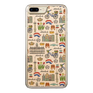 Capa iPhone 8 Plus/ 7 Plus Carved Teste padrão do Doodle de Netherland