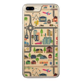 Capa iPhone 8 Plus/ 7 Plus Carved Teste padrão do mapa da cidade