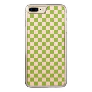 Capa iPhone 8 Plus/ 7 Plus Carved Teste padrão do tabuleiro de damas do verde
