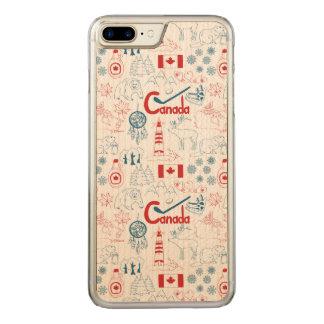 Capa iPhone 8 Plus/ 7 Plus Carved Teste padrão dos símbolos de Canadá |