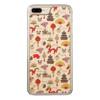 Capa iPhone 8 Plus/ 7 Plus Carved Teste padrão dos símbolos de China