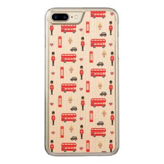 Capa iPhone 8 Plus/ 7 Plus Carved Teste padrão dos símbolos de Inglaterra