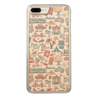 Capa iPhone 8 Plus/ 7 Plus Carved Teste padrão Pastel do turista
