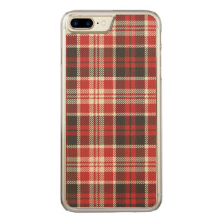 Capa iPhone 8 Plus/ 7 Plus Carved Teste padrão vermelho e preto da xadrez